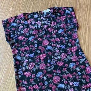 Pink Rose floral blouse